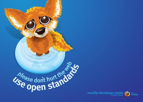 No hagas daño a la web; usa estándares abiertos