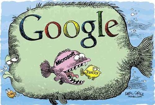 El pez grande se come al pequeño, Google - Microsoft - Yahoo