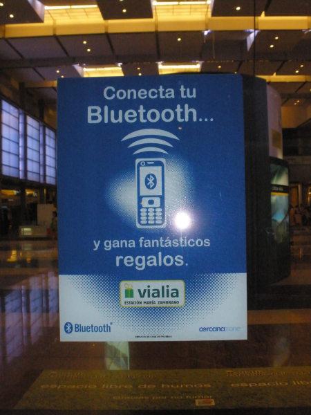 Bluetooth en la estación María Zambrano