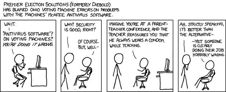 XKCD - Voting Machines