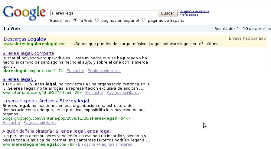 Si eres legal, adwords