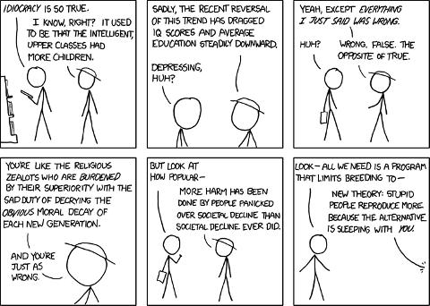 Idiocracia, por XKCD