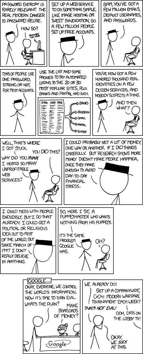 Password reuse, por Xkcd