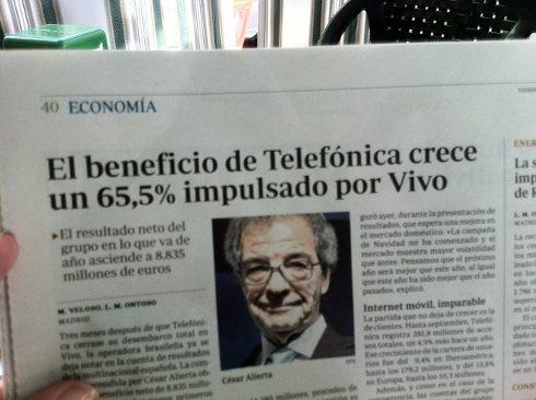 Telefónica aumenta beneficios un 66%