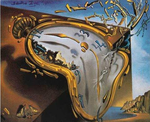 Reloj blando en el momento de su primera explosión, Dalí