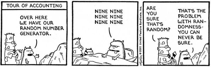 Dilbert, números aleatorios