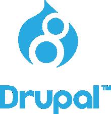 Logo de Drupal 8.