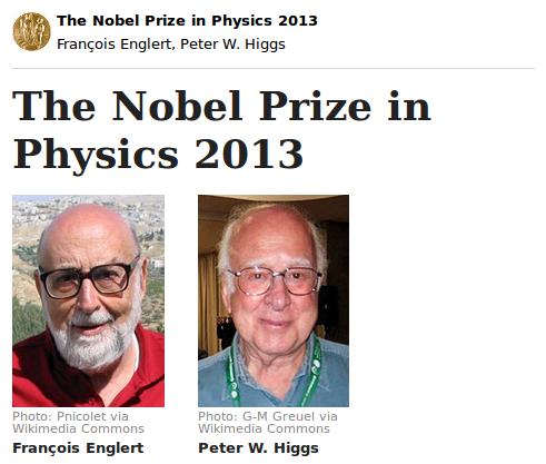 Englert Higgs Nobel