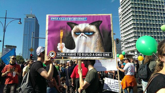 Gato, internet, gnu