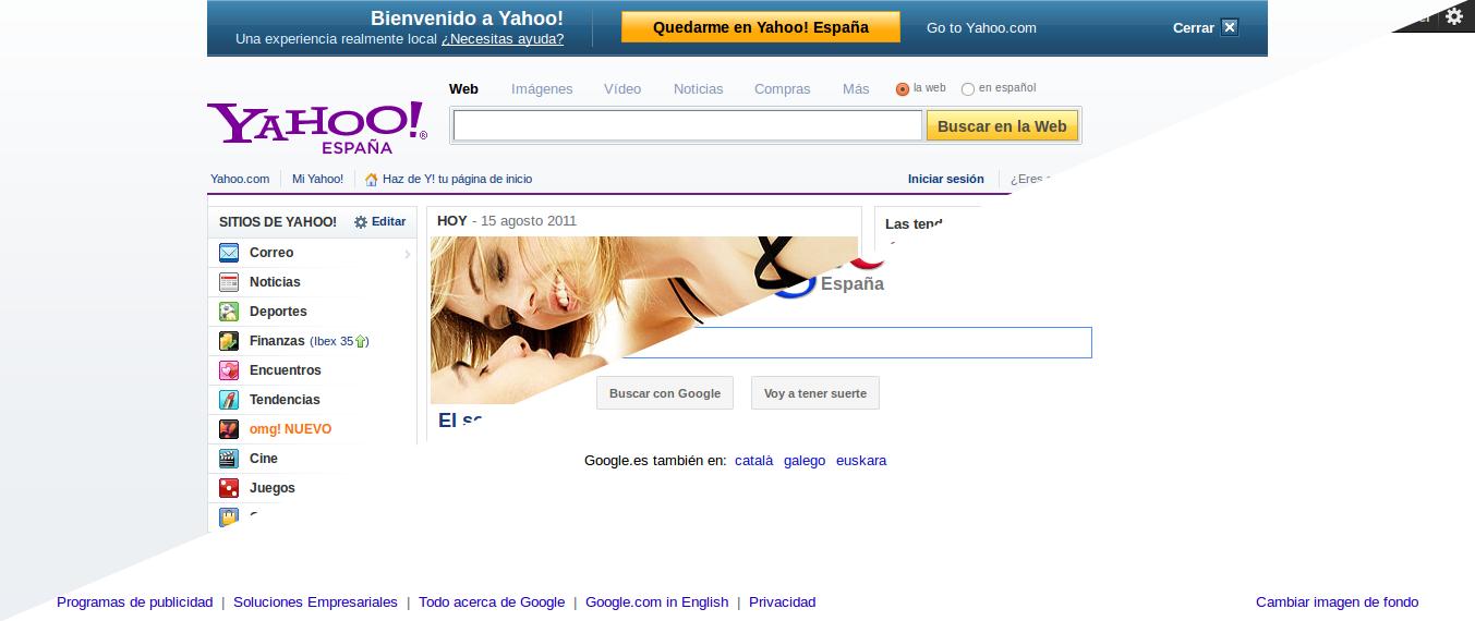 Google, Yahoo! y simplicidad