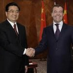 Hu Jintao y Dmitri Medvedev