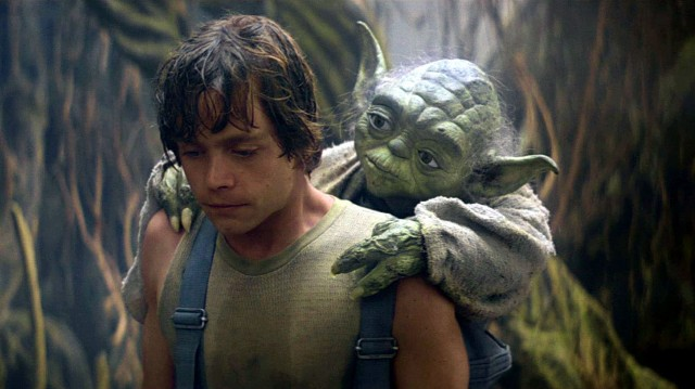 Luke Skywalker con Yoda