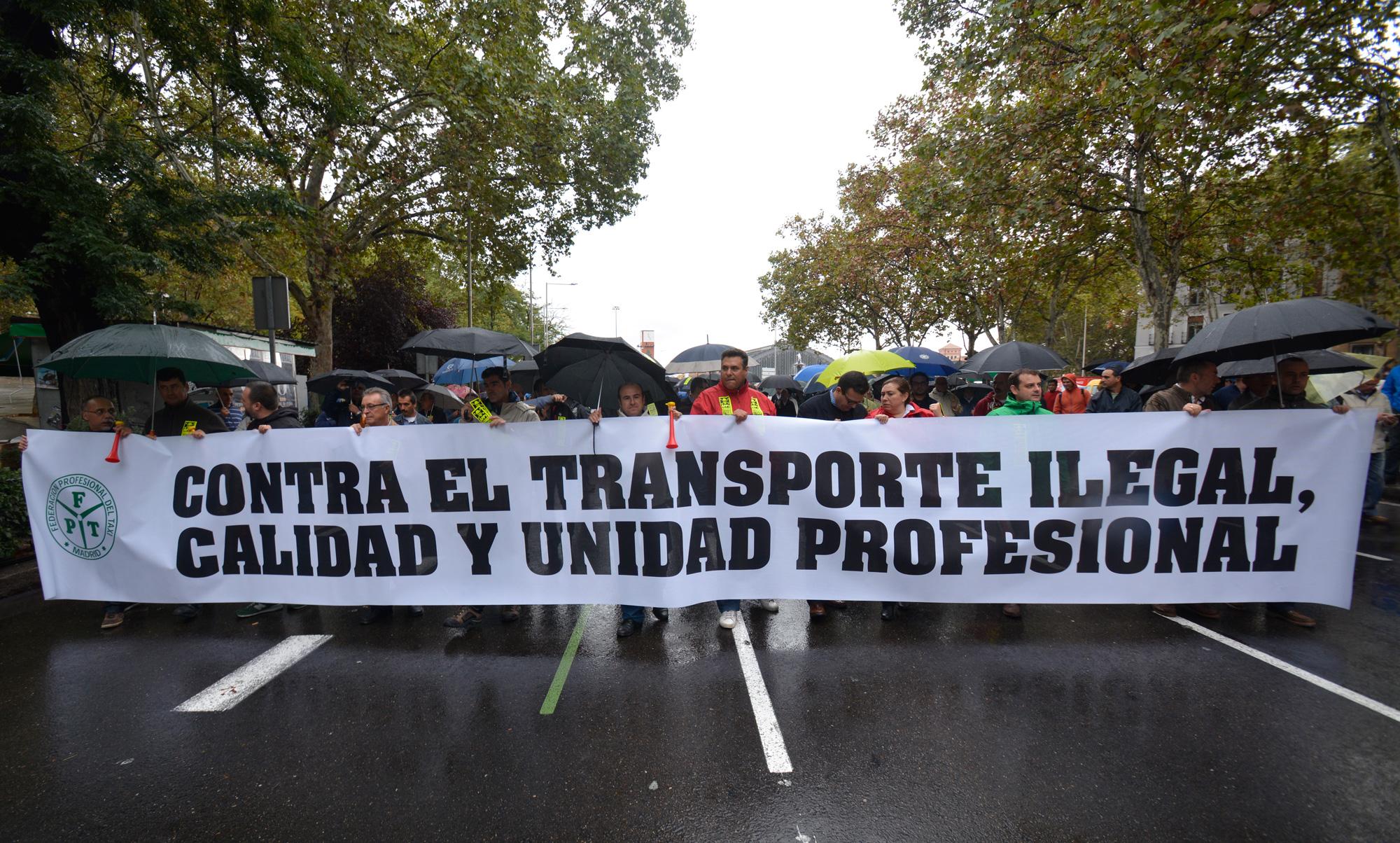 Manifestación de taxis, Madrid