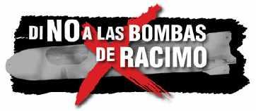 No a las bombas de racimo