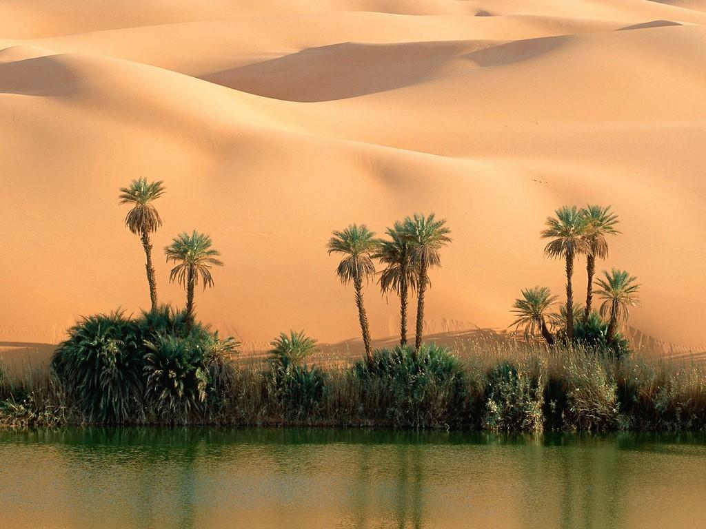 Oasis, lago Mandala, Libia