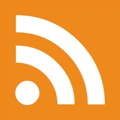 Icono clásico usado para indicar un canal RSS