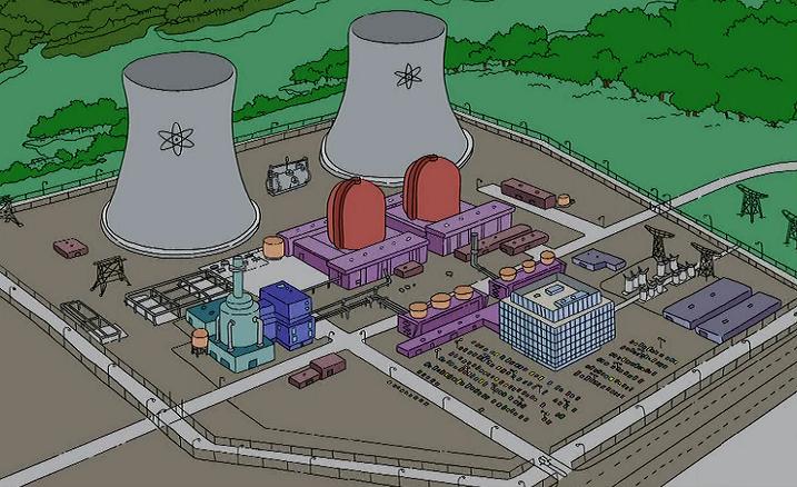 La central nuclear más famosa del mundo, Springfield, EE.UU.