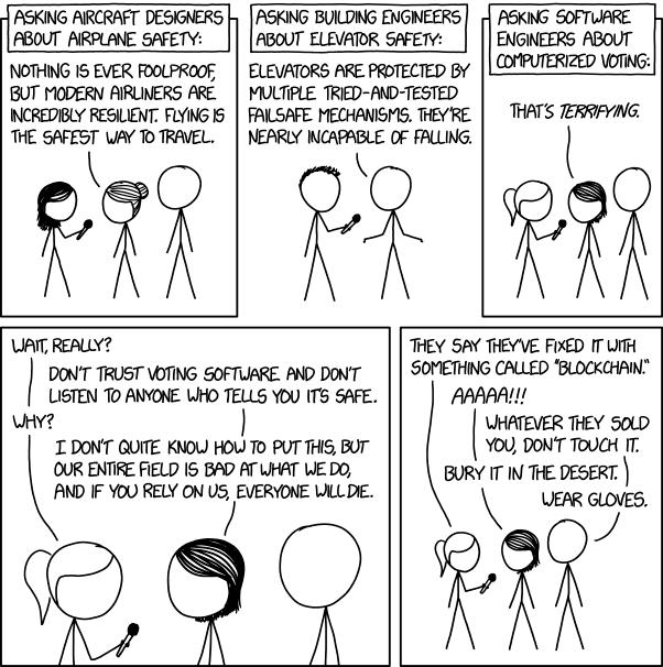 Xkcd sobre voto electrónico